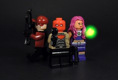 Red Hood and the Outlaws (MrKjito) Tags: lego minifig super hero comic comics new 52 red hood arsenal starfire dc