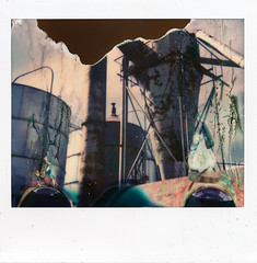 (|Digital|Denial|) Tags: polaroidweek roidweek industrial decay ruin rust collapse impossibleproject spectra polaroid instantphotography analog polaroidfail faded muted diy looming doom