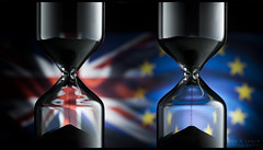 Brexit - is time running out for both sides? (WibbleFishBanana) Tags: brexit article50 eu europeanunion unitedkingdom greatbritain gb uk divorce split breakup europeanmarket time sand hour glass hourglass