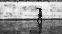 Rain - Trafalgar Square (richardbircham) Tags: bloomsbury london people soho street theatreland