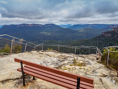 Getting Away from it All (Anthony's Olympus Adventures) Tags: sydney nsw australia lookout view bluemountains chair seat olympusem10 olympus olympusomd photography photogenic leura elysian sky clouds