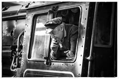 Listening... (JohnN60) Tags: heritage railway 2017 spring gala elr 76084 steam blackandwhite