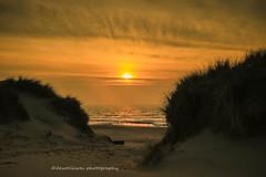 sunset over Ameland (dewollewei) Tags: ameland waddeneilanden wadden waddenzee hollum dunes duinen zee sea zonsondergang water
