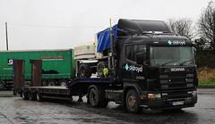 Scania 124L Oldroyd Plant Hire & Heavy Haulage PO53FGM Frank Hilton IMG_5177 (Frank Hilton.) Tags: classic truck lorry eight wheel maudsley aec atkinson albion leyalnd bristol austin outside heavy haulage crane 8 axle