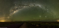 green sky at night (andrew.walker28) Tags: milky way rainbow galaxy galactic centre center core green airglow magellanicclouds queensland australia felton south starscape astrophotography landscape stars starlight