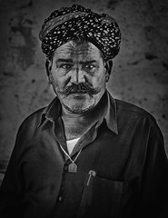 A portrait (Dheeraj Tripathi) Tags: portrait people man turban moustache india indian rajasthan rajasthani street dvk canon jaisalmer travel