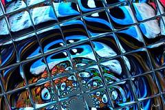 Tout est permis - Eveything is permitted (Emmanuelle Baudry - Em'Art) Tags: art artwork abstract artsurreal artnumérique abstrait artdigital artfantasy digitalart fractal blue bleu vision rêve dream couleur colour lumière light carré carreaux squared square emmanuellebaudry emart oeil eye