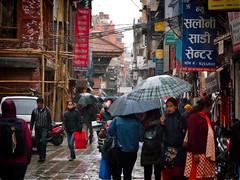 View from the streets of Thamel in Kathmandu, Nepal (CamelKW) Tags: abc annapurnabasecamptrek annapurnaregiontrek annapurnasanctuary fishtail kathmandu mbc machapuchare machapucharebasecamp nepal pokhara trekking thamel