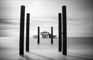 Brighton West Pier - Monochrome
