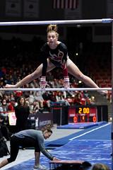 DU Gymnastics - Maddie Karr (brittanyevansphoto) Tags: collegegymnastics ncaagymnastics denvergymnastics unevenbars mount straddle