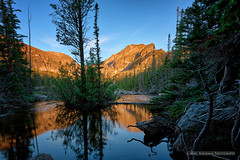Lake Haiyaha, Colorado (Marc Haegeman Photography) Tags: lakehaiyaha rockymountainnationalpark colorado usa nikond800 marchaegemanphotography rockies rockymountains lake sunrise bearlaketrail outdoor landscape landscapephotography dreamlaketrail scenic bearlakearea hallettpeak forest creek water reflections