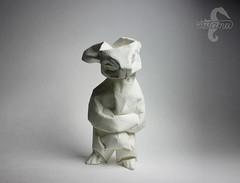 Mischief (mitanei) Tags: origami mitanei bunny rabbit origamibunny origamirabbit hase origamihase kaninchen origamikaninchen paperart papierkunst papierskulptur sculpture keepfoldingon animals