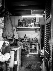 Inside a house in Chinatown (tumivn) Tags: chinatown chinese vietnam saigon blackandwhite olympus em10ii streetphotography street