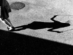 (benoitrouchaleau) Tags: bw nb shadow jump girl street