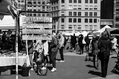 Union Square Market, NY (FourteenSixty) Tags: newyork nyc manhattan monochrome blackwhitephotos unionsquare unionsquarepark park