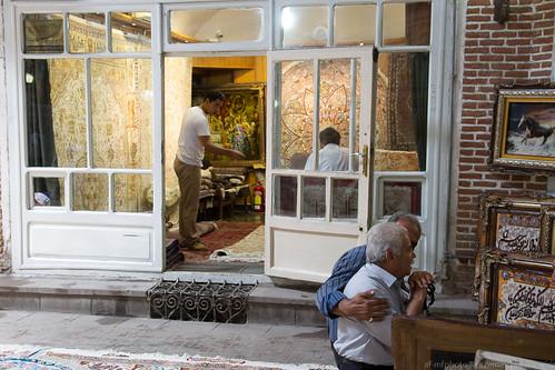 Bazaar scene, Tabriz