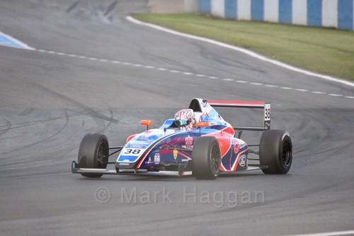 Jamie Caroline in British F4 Race Two during the BTCC Weekend at Donington Park 2017
