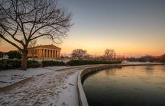 Dawn at the Parthenon (ap0013) Tags: tennessee nashvilletennessee parthenon sunrise dawn water snow city nash nashville centennialpark