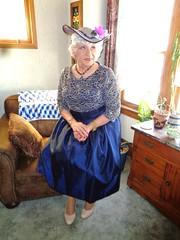 My Easter Outfit (Laurette Victoria) Tags: dress hat pumps silver necklace easter woman laurette