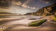 St Mary Awakes (ianbrodie1) Tags: stmarys old hartley north tyneside lighthouse coast rocks moss green steps cliffs ocean sea seascape coastline leefilters nikon d750