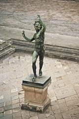 fauno (doggle) Tags: canoneos500n kodakportra160 film 35mm italy pompeii roman sculpture fauno fawn casadelfauno