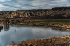 cloudy water... (Alvin Harp) Tags: oregon owyheeriver rome barrettranch bluffs ranch farming barn river reflections april 2017 sonyilce7rm2 fe24240mm alvinharp
