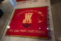 Flag of the Karl-Marx-Stadt (Chemnitz) agricultural co-op (quinet) Tags: 2016 berlin ddr eastgermany gdr maschinentraktorenstation museuminderkulturbrauerei germany