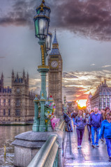 Paying Respect (iankent1963) Tags: westminster bridge hdr london londonist riversidethames flowers lights people tourist travel photomatixpro nikond5100 capital cityscape bigben clock flickr explore
