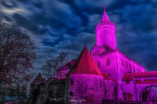 Die #Leuchtenburg in #rosa bei #Seitenroda in #Thüringen (#Germany)