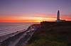 nash lighthouse sunset (neath stan the man) Tags: wfc landscape seascape nikon glamorgan heritage coast 1020sigma hitech filters ndgrad d7000 inspiring