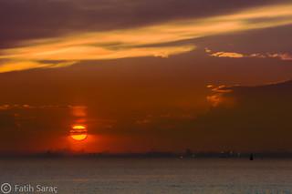 Sunset over City/ Şehrin Üzerinde Günbatımı