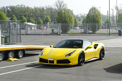 Black & Yellow (Stefano Bozzetti) Tags: ferrari scuderiaferrari 488 gtb ferrari488 ferrari488gtb yellowferrari yellowferrari488 adv1 forged wheels wheel rim rims adv1wheels stanced tuning supercar car auto automotive exotic italian pistenclub track day trackday monza autodromodimonza italia italy 19bozzy92
