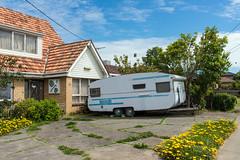 Niddrie (Westographer) Tags: niddrie melbourne australia westernsuburbs suburbia caravan frontyard parked house home wroughtiron oldschool vintage