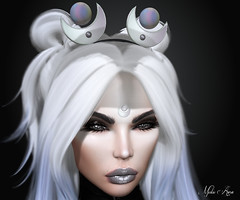 Lunar (Mistic Aura <<Taking client>>) Tags: nevrose mesh blender photoshop sl second life accessories goth withc gothic white black lips head headband shop shooping