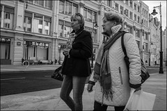 DR151004_0930D (dmitry_ryzhkov) Tags: converse conversation couple motion movement walk walker walkers pedestrian pedestrians sidewalk woman women lady sony alpha black blackandwhite bw monochrome white bnw blacknwhite day daylight two art city europe russia moscow documentary journalism street streets urban candid life streetlife citylife outdoor outdoors streetscene close scene streetshot image streetphotography candidphotography streetphoto candidphotos streetphotos moment light shadow people citizen resident inhabitant person portrait streetportrait candidportrait unposed public face faces eyes look looks