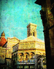 memories don't fade... (Explored) (ellyn on route to Vancouver Island) Tags: baptistery duomo florence firenze tuscany italy txeeptopaz