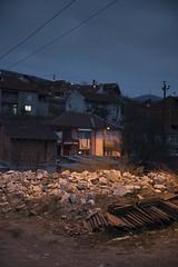 Veles, Macedonia (Duncan R S Harvey) Tags: europe easterneurope southerneurope balkans macedonia veles night streetlights canon6d rubble houses