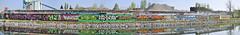 lente-editie met krabbelschrift (emmapatsie) Tags: boortmeerbeek graffiti mechelenleuven vaart autostitch kanaalleuvendijle leuvensevaart sas muurschildering mural