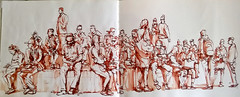 République. People. (C.PARR) Tags: paris republique art sketch aquarelle parrini