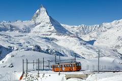 Amongst the Peaks (david_gubler) Tags: matterhorn gornergrat bhe24 emu rack railway train snow mountains
