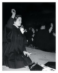 Graduation Day (vintagesmoke) Tags: vintage snapshot photophotograph girl smoking cigarette gown graduation teen found