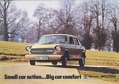 1974 brochure cover (Hugo-90) Tags: morris 1800 2200 1974 maxi landcrab ads advertising brochure catalog