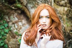 Jenny and Ivy (Fairy_Nuff (piczology.com)) Tags: jenny osullivan model beauty redhead tree trunk bark ivy hair portrait
