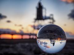 Obereversand (TS_1000) Tags: leuchtturm glaskugel crystalball nordsee 2in1 niedersachsen meer strand olympus kutterhafen seezeichen dorum