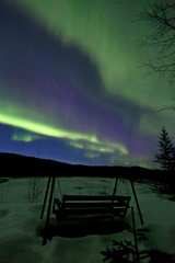 042017 - The neighbors swinging bench (Nathan A) Tags: alaska ak fairbanks salcha northstar river spring cold ice snow night aurora auroraborealis northernlights nightsky stars farnorth geomagnetic green bench swing view relax nature outdoors beauty skygazing