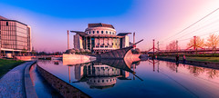 National Theater Budapest, Hungary (g.aftermath) Tags: hungary budapest national theater sony a6000 panorama blue hours sunset reflection