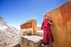 A young Lama (manuj mehta) Tags: lama monk spiti valley himalayan mountains himachal tibet middle land far away people human interest photo journalism street candid shoot photography love wide angle workshop travel incredible india lonely planet manuj mehta