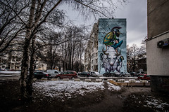 Here we are again (Melissa Maples) Tags: софия sofia българия bulgaria europe nikon d3300 ニコン 尼康 sigma hsm 1020mm f456 1020mmf456 winter snow mural graffiti streetart art bozko urbancreatures flats apartments building