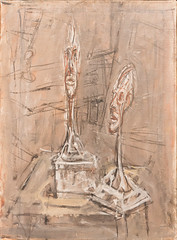 Still Life with Two Plaster Heads, 1950 (Jonathan Lurie) Tags: oil painting alberto giacometti stilllife art museums museum wisconsin still life milwaukee mam albertogiacometti artinmuseums milwaukeeartmuseum milwaukeewisconsin oilpainting unitedstates us