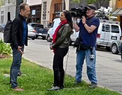 Berkeley, Shattuck Avenue, TV interview, Channel 2, (David McSpadden) Tags: berkeley channel2 shattuckavenue tvinterview